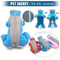 Pet Dog Clothes Hoodie Winter Fleece Jacket Jumpsuit Coat Snowsuit Waterproof