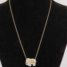 NYJEWEL Brand New 14k Solid Gold 2.5ct Fancy Diamond Elephant Necklace