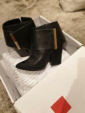 Aldo Ladies Ankle Boots UK Size 4 EU 37 US 6.5 Black Leather