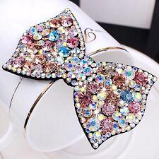 USA Handmade Hair Clip Bobby Pin use Swarovski Crystal Hairpin Bow Multi Color
