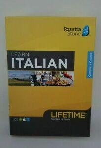 Rosetta Stone ITALIAN Complete Course Lifetime Subscription iOS Android PC