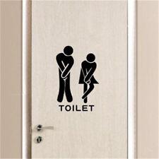 Funny Toliet Bathroom Door Wall Sticker Decals Washroom Vinyl Quotes Home Decor
