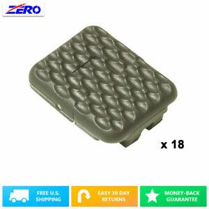 Green 18 PCs Pack M-LOK Rail 1 Single Slot Covers Rubber Heat Resistant textured