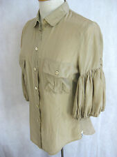 Paul Smith Size EUR 42 (Aus 14) Designer Silk Beige Blouse