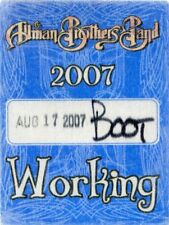 Allman Brothers 2007 Concert Tour Backstage Pass! Authentic Original stage Otto