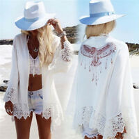 Women Bathing Suit Lace Crochet Summer Bikini Swimwear Cover Up Beach Dress F&F