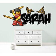 LEGO NINJAGO NYA PERSONALISED WALL STICKER children's bedroom decal art 3 sizes