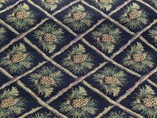 PINECONE UPHOLSTERY FABRIC MOUNTAIN LODGE CABIN RUSTIC BEARS TAPESTRY CHENILLE