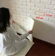 3D PE Foam Self Adhesive Panels Wall Stickers Home Room Decor DIY Embossed Brick