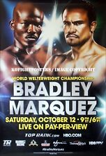 TIMOTHY BRADLEY vs. JUAN MANUEL MARQUEZ / Original HBO PPV Boxing Fight Poster