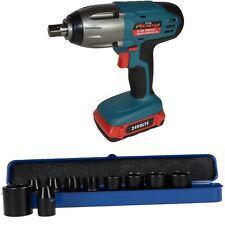 "24v 1/2"" Drive Li-on Cordless Battery Impact Wrench & 10 Shallow Impact Sockets"