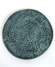 HAND MADE TERRACOTTA PLAQUE, DEPICTING THE PHESTOS DISCUS FROM GREECE!!! #A52