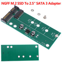 "NGFF M.2 SSD To 2.5"" SATA 3 Adapter Card For 30/42/60/80mm M.2 SSD Hard Dr Gn"