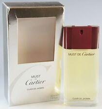 (99,98eur/100ml) must de Cartier Clair de GELSOMINO 50ml EDT EAU DE TOILETTE NUOVO