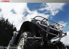 Prospekt Yamaha ATV 2003 Bear Tracker 250X Big Bear 400FW Kodiak 400AN Grizzly