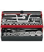 Coffret SK.453N 6 PANS Douilles/Cliquets 1/2+3/4=8/ 50mm FACOM