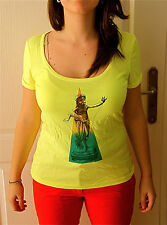 t shirt yellow KANABEACH vintage T 38 NEW LABEL coll été 2013 val