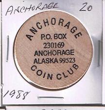 Farthest North Shrine Club FAIRBANKS Alaska Wooden Token