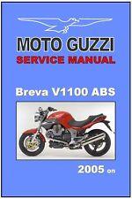 MOTO GUZZI Workshop Manual V1100 Breva 2005 2006 on ABS FACTORY Service & Repair