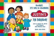 Caillou Birthday Invitation 24hr Service UPRINT 4x6 or 5x7