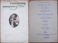 Art Deco French 1930s Menu: Angel w/Boy at Alter, Wine - Mascara/St. Emilion