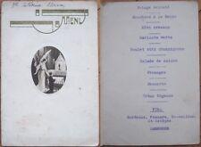 ???? Art Deco French Menu: Angel w/Boy at Alter, Wine - Mascara/St. Emilion