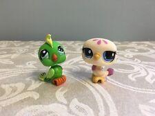 Littlest Pet Shop #1369 1442 Parrot Cockatoo Dove Purple Yellow Green HTF Colors