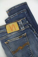 Nudie Tight Long John Super Blue Herren W30/L34 Eng Für Jeans Stretch 5352_ MM