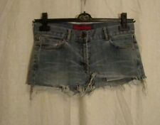 Ladies FCUK JEANS cut off stretch denim festival sexy shorts hot pants sz 10
