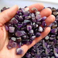 50g Natural Purple Crystal Quartz Rough Rocks Gravel Stone Specimens Home Decor