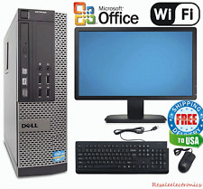 "Dell Optiplex Desktop Computer PC Win 7 Intel i5 Quad Core 8GB 19"" Monitor"