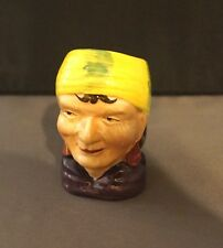 Vintage Sterling Miniature Character Toby Mug Woman or Pirate - Made in England