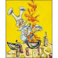 CHUCK JONES Chez Bugs Chef Warner Brothers Canvas Giclee Ltd Ed of 400
