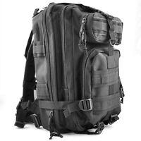 30L Taktik Militaer Aussen Rucksack Camping Wandern Trekking Tasche -Schwarz GY