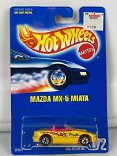 Hot Wheels Mazda MX-5 Miata Blue Card #172 Blackwall Sealed