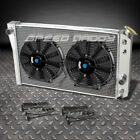 "3-ROW ALUMINUM RACING RADIATOR+2 X 10""BLACK FANS 1982-2002 CHEVROLET S10/S-10 V8"