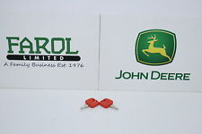 Genuine John Deere Tractor Key RE183935 Pack of 2 Keys Red 7000 8000 Series