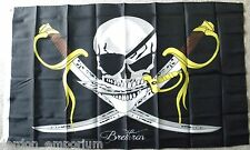 BRETHEREN PIRATES BUCCANEERS CARIBBEAN PIRATE POLYESTER FLAG 3 X 5 FEET