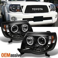 2005-2011 Toyota Tacoma Black Halo Projector LED Headlights 2006 2007 2008 2009