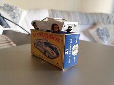 Rare Matchbox Superfast #41 Ford G.T White - Mint