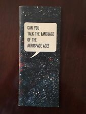 1963 USAF Recruiting Can You Talk the Language of the Aerospace Age? Pamphlet
