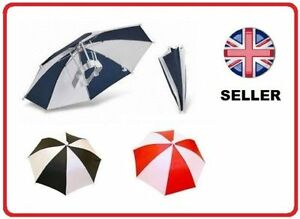 UMBRELLA HAT CAP FOR GOLF FISHING CAMPING KIDS FANCYDRESS FOLDABLE BROLLY