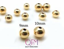 5pcs Gold Filled Seamless Round Spacer Beads, 9mm, 10mm