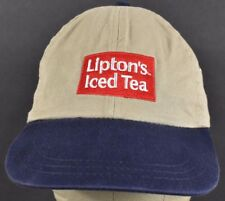 Beige Lipton's Iced Tea Co Logo Embroidered Baseball hat cap Adjustable Strap