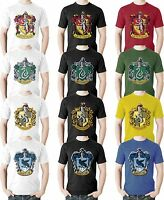 Harry Potter Hogwarts Houses T Shirt Gryffindor Quidditch Team Slytherin Crest