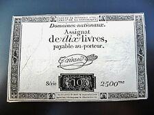 assignat de 10 LIVRES 1792  série 2500