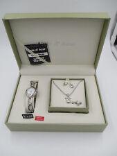Cote D' Azur ladies quartz watch gift set new  RING EARRINGS NECKLACE