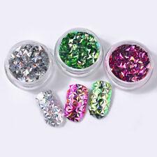 6 Boîtes  Décoration d'Ongles Multicolore Sequins en Forme de Triangulaires