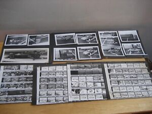 VINTAGE BLACK & WHITE RACING PHOTO CONTACT SHEET PHOTOGRAPHY STOCK CAR