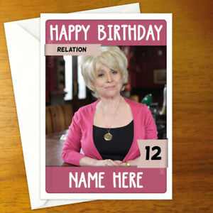 EASTENDERS Personalised Birthday Card - peggy mitchell barbara windsor pub